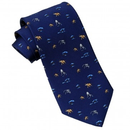 HW Safari World Silk Tie by Westley Richards & Co. in Pretty Little Liars - Season 6 Episode 11