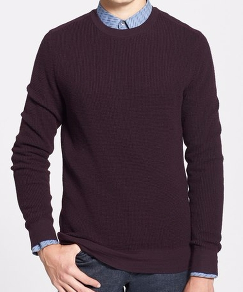 Dagrun Waffle Knit Merino Wool Sweater by Theory in Teen Wolf