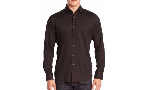 Baylor Textured Button-Down Shirt by Robert Graham in Suits - Season 6 Episode 10