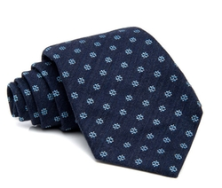 Navy Blue Diamonds Tie by Isaia in Suits