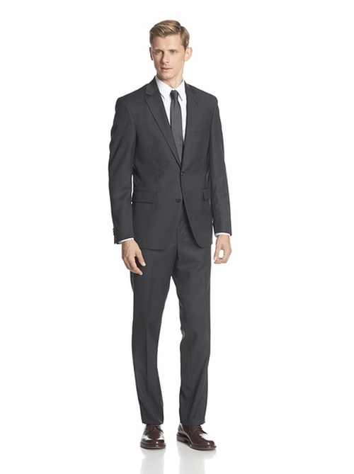 Two Button Notch Lapel Suit by Kenneth Cole New York in Secret in Their Eyes