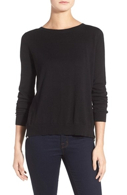 Woven Inset Sweater by Ivanka Trump in Arrow