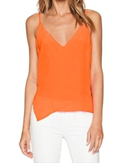 Camisole Spaghetti Tank Top by E-Com in Rosewood