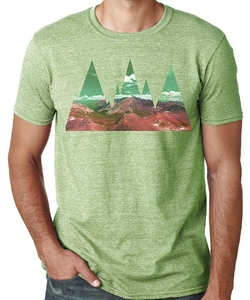 Abstract Mountains T-Shirt by Artisan Tees in Modern Family