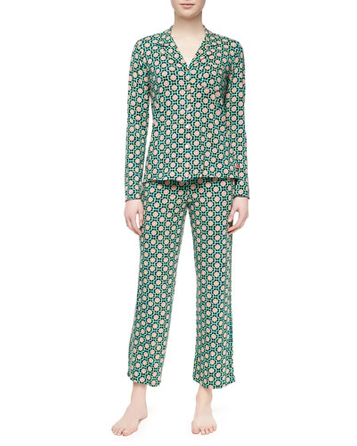 Madame Foulard Pajama Set, Navy by Josie Natori in The Mindy Project - Season 4 Episode 5