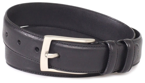 Full Grain Leather Single Stitched Edge Belt by Florsheim in The Big Lebowski