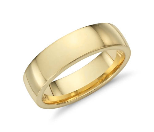 Low Dome Comfort Fit Wedding Ring by Blue Nile in The Second Best Exotic Marigold Hotel