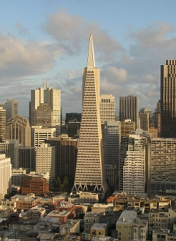 San Francisco, California by Transamerica Pyramid in Terminator: Genisys