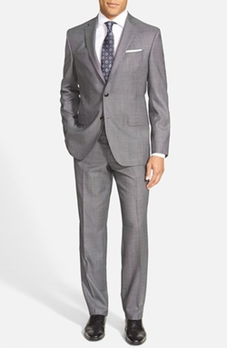 Trim Fit Solid Wool Suit by Ted Baker London in The Blacklist