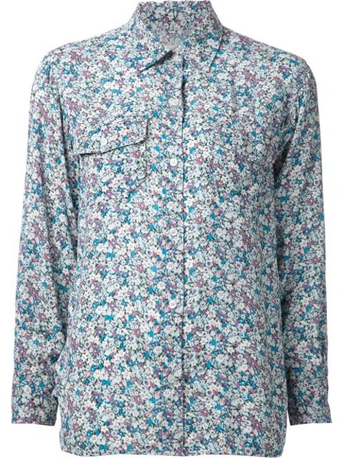 'Sophia' Floral Print Shirt by Current/Elliot in Couple's Retreat