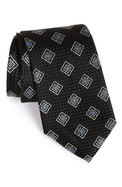 Square Medallion Silk Tie by Nordstrom in The Blacklist