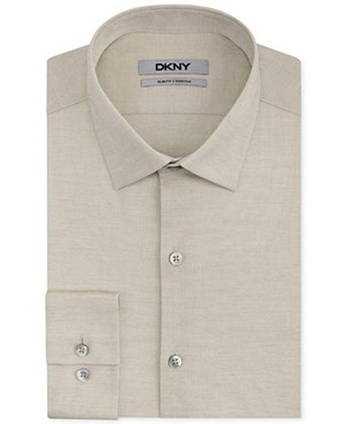 Slim-Fit Stretch Pinpoint Solid Dress Shirt by DKNY in Savages
