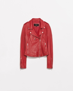 Side Gathered Leather Jacket by Zara in Pretty Little Liars