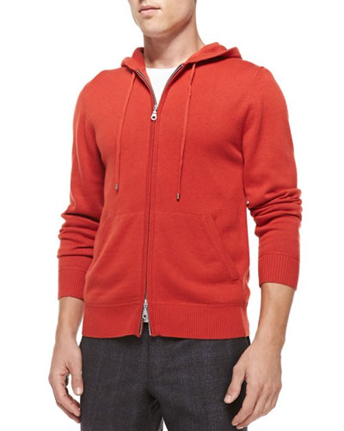 Cashmere/Cotton Zip Hoodie by Neiman Marcus in That Awkward Moment