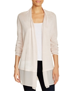 Chiffon Trim Cardigan by Nic And Zoe  in Modern Family