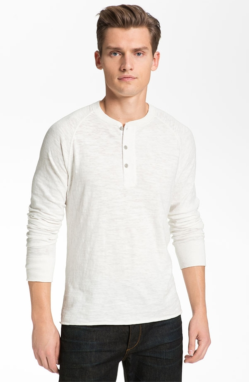 Raglan Henley Shirt by Rag & Bone  in Billions - Season 1 Episode 3