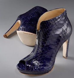 Python Peep-Toe Booties by Alexandre Birman in Gossip Girl