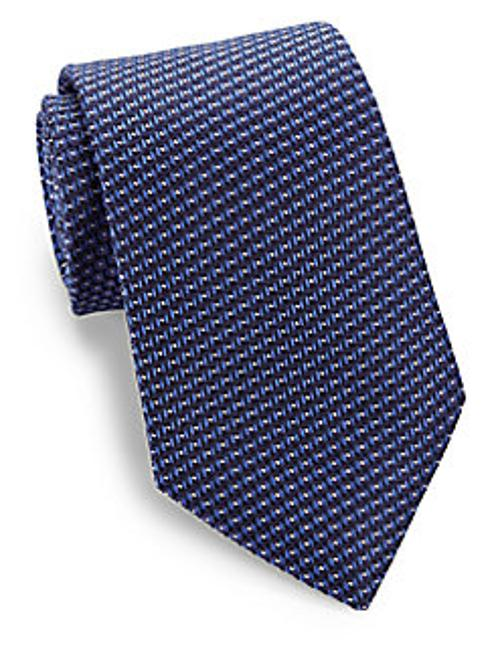 Circle Dot Silk Tie by Armani Collezioni in Lucy