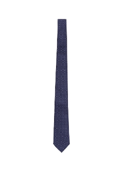 Tile Dot Silk Jacquard Tie by Armani Collezioni in Man of Tai Chi