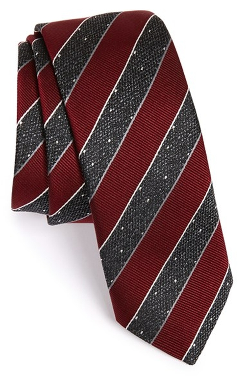 Stripe Silk Tie by Hugo Boss in Mission: Impossible - Rogue Nation