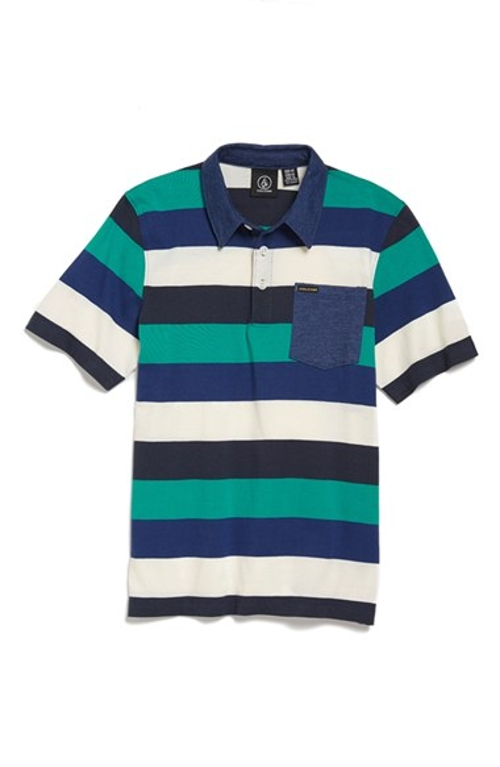 'Sutton' Cotton Blend Polo Shirt by Volcom in Me and Earl and the Dying Girl