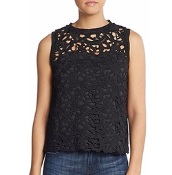 Lace Shell Top by Cliché in Flaked