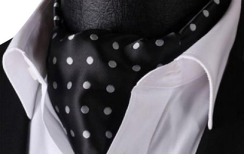Polka Dot Silk Cravat Woven Ascot Silk Necktie by Fengbay in John Wick