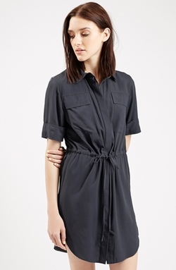 Utility Drawstring Dress by Topshop in Elementary
