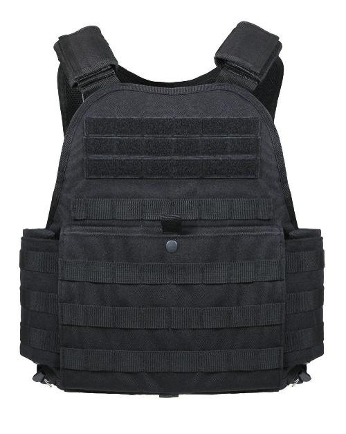 Mens Tactical Vest - MOLLE Plate Carrier, Black, One Size by ROTHCO in Edge of Tomorrow