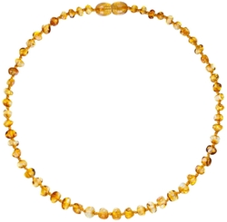 Baltic Amber Teething Necklace For Babies by Clever Actions in Neighbors