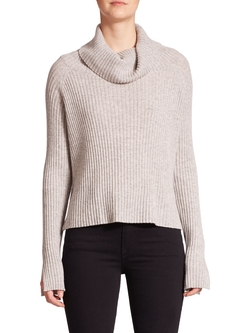 Ribbed Hi-Lo Cashmere Turtleneck by Frame in The Bachelorette