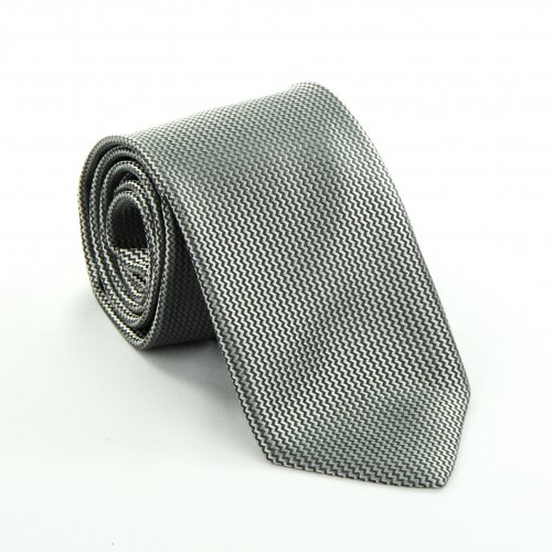 Woven Gray Zig-Zag Tie by Anto Beverly Hills in Fifty Shades of Grey
