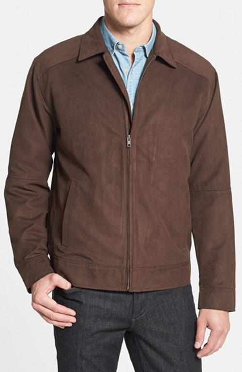 'Roosevelt' Classic Fit Water Resistant Full Zip Jacket by Cutter & Buck in San Andreas