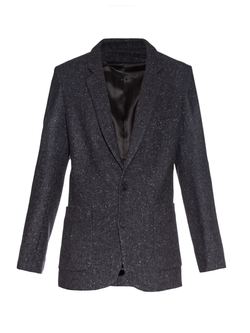 Longline Donegal-Tweed Blazer by Raey in The Good Wife