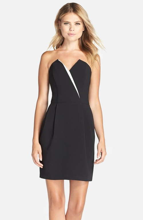 Strapless Crepe Sheath Dress by Adelyn Rae in Confessions of a Shopaholic