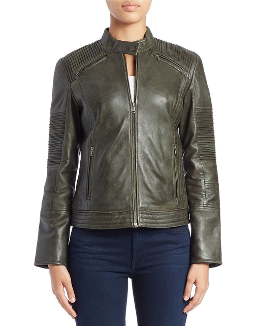 Moto Leather Jacket by 7 For All Mankind  in The Flash - Season 2 Episode 9