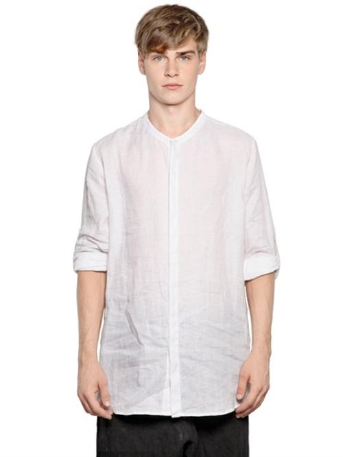 Light Linen Canvas Shirt by Isabel Benenato in Little Fockers