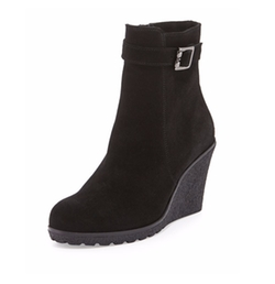 Kimmy Suede Wedge Booties by La Canadienne in Pretty Little Liars