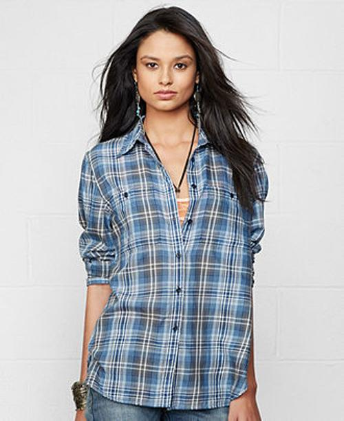 Long-Sleeve Plaid Utility Shirt by Denim & Supply Ralph Lauren in The Judge