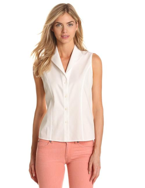 Women's Sleeveless No-Iron Easy Care Shirt by Jones New York in The Other Woman