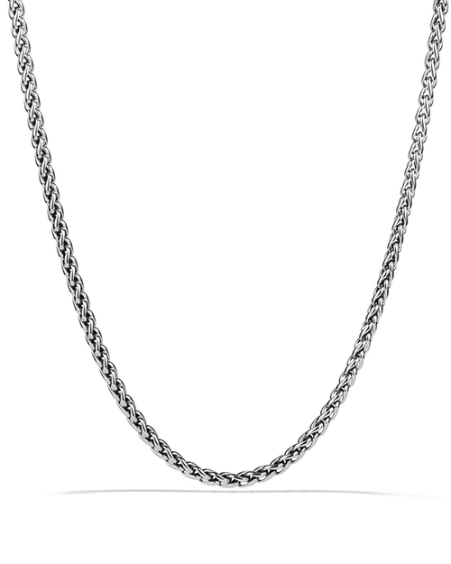 Small Wheat Chain Necklace by David Yurman in Ballers - Season 1 Episode 5