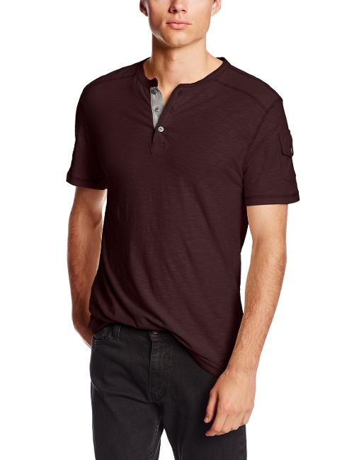 Men's Jack Short Sleeve Henley by Modern Culture in Project Almanac