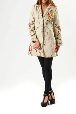Embroidered Button Coat by Paparazzi in Love Actually