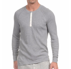 Heritage Waffle Raglan Henley Shirt by 2Xist in Love