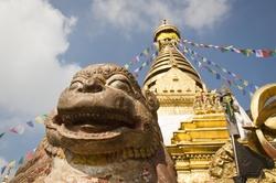 Kathmandu, Nepal by Harati Devi Temple in Doctor Strange