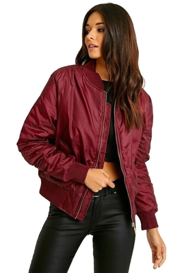 Women's Vintage Bomber Jacket by Luouse in Unbreakable Kimmy Schmidt