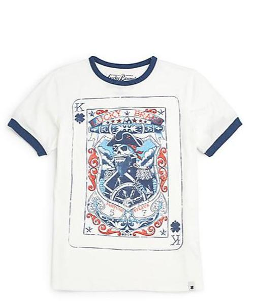 Boy's King & Clover Card Tee by Lucky Brand in Need for Speed