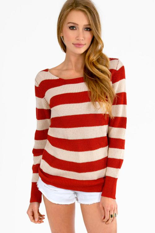 Nautical Striped Sweater by Tobi in The Wolverine