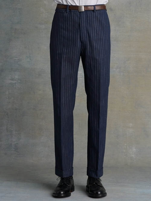 Herringbone David Slim Pant by RALPH LAUREN RRL in Jersey Boys