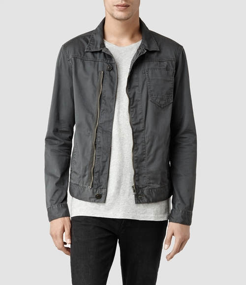 Gray Kicker Denim Jacket by AllSaints in Mission: Impossible - Rogue Nation